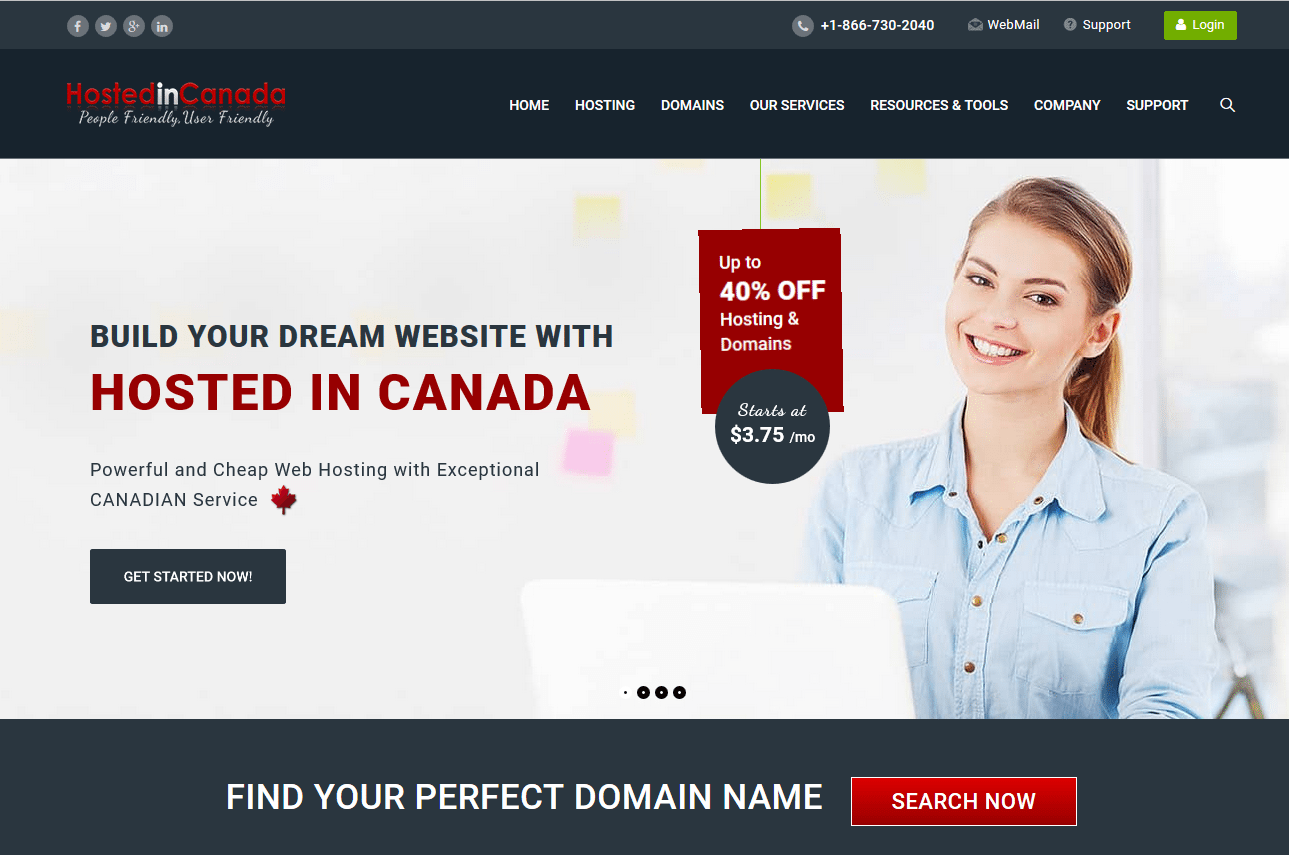 Canadian Web hosting business HostedinCanada.com Launches new website!